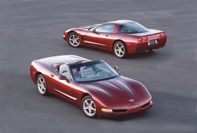 The 50th Anniversary Edition was an option for the 2003 Corvette hatchback and convertible.