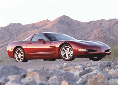 The 50th Anniversary package for the 2003 Corvette included the new Magnetic Selective Ride Control suspension.
