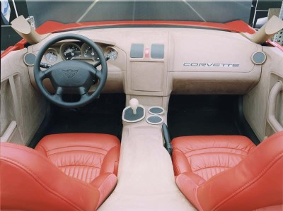 This clay model for the 2005 Corvette dashboard showed the C6 would use the dual-cowl design.