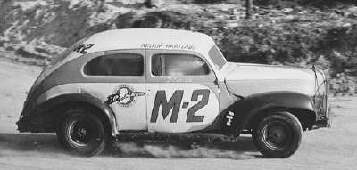 Milton Hartlauf drove one of the fleet of cars entered by Bob Fish at Daytona Beach.