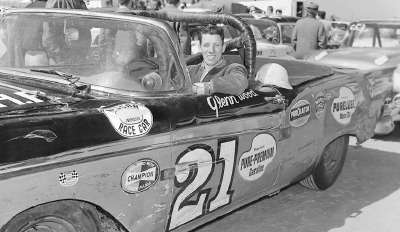 Glen Wood, leader of the Wood Brothers clan, finished sixth in the 1958 Daytona Beach Convertible race on Feb. 22.