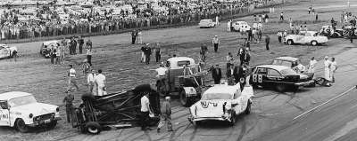 The largest crash in NASCAR history took place at the Daytona 250-mile Modified-Sportsman race on Feb. 13, 1960.