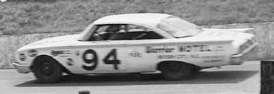 Banjo Matthews wheels his #94 Ford Starliner down Asheville-Weaverville Speedway in the Aug. 14 Western North Carolina 500.