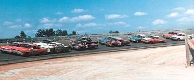 Junior Johnson and Banjo Matthews on the front row for Oct. 1 Wilkes 200 at North Wilkesboro Speedway.