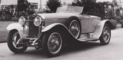 1928 Hispano-Suiza H6C boattail roadster, offered only as a rolling chassis