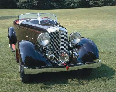 The 1932 Chrysler boasted a smooth ride thanks to