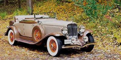 This 1932 Auburn V-12 Cabriolet was part of the 1932-34 Auburn Twelve line.
