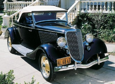 1932 Ford Model B DeLuxe Tudor sedan, which debuted only four years after the Model A