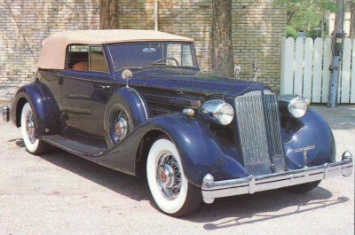 The Fourteenth Series 1936 Packard Twelves featured revised sheetmetal surrounding a more laid-back grille.