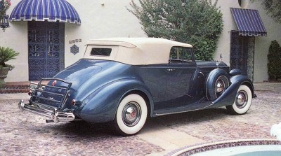 The 1937 Packard Twelve adopted Safe-T-Flex independent front suspension and Servo-Sealed hydraulic brakes.