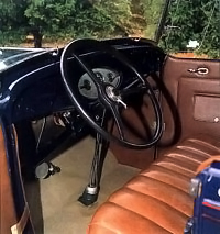 1932 Ford Model 18 phaeton V-8 interior