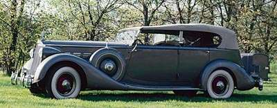 This 1936 Packard Super Eight phaeton was part of the 1933-36 Packard Super Eight series.