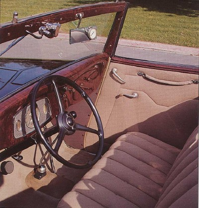 Ford Cabriolet, Interior