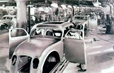 production line for the 1934 Chrysler Airflow