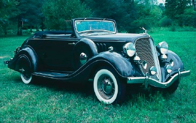 1934 Terraplane K Special convertible coupe, part of the 1934-1937 Terraplane Open Models line of collectible cars.