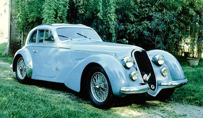 1938 Alfa Romeo 6C2300 coupe, part of the 1934-39 Alfa Romeo 6C2300 line.