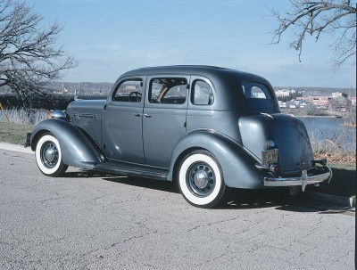The 1936 Plymouth touring sedan trunks had a more integrated look.