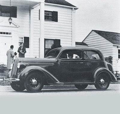 A new frame, a new body, and a refined transmission contributed to the 1936 Plymouth Deluxe' success.