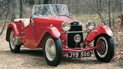 The 1948 HRG 1500 roadster, part of the 1935-1956 HRG 1100/1500 line of collectible cars.