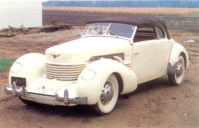 1937 Cord Supercharged 812 Phaeton Sedan