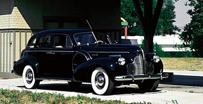 1940 Buick Limited sedan, part of the 1936-1940 Buick Series 80/90 Limited line of collectible cars