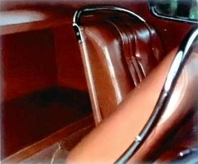1937 Lincoln Zephyr interior view