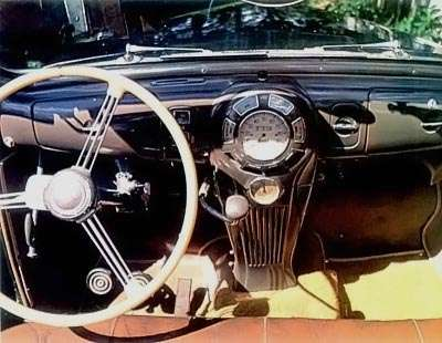 1938 Lincoln Zephyr interior view