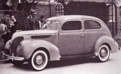 The 1938 Ford Tudor sedan was no longer offered in a DeLuxe model.