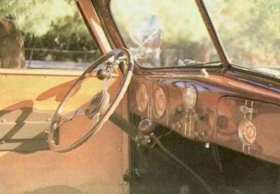 The 1937 Ford Model 74 station wagon also boasted interior comfort features.