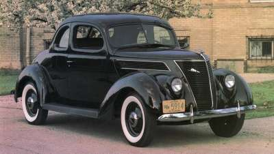 The 1937 Ford lineup, including the Model 74, was introduced with great fanfare.
