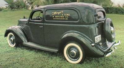 The year's lineup included the 1937 Ford delivery sedan.