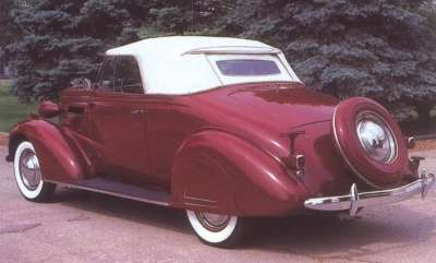 Four passenger models, such as the 1937 Chevrolet convertible, used a rumble seat.
