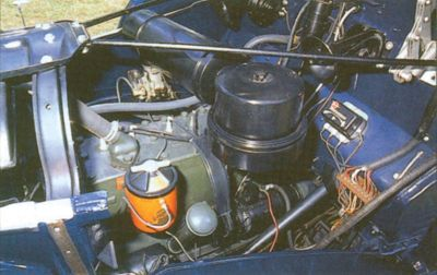 1938 Studebaker Coupe-Express engine