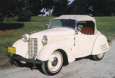 This 1938 American Bantam 60 roadster was part of the 1938-1941 American Bantam line.