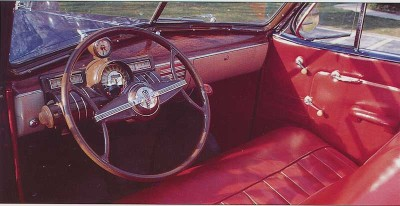 1938 Oldsmobile L-38, Interior