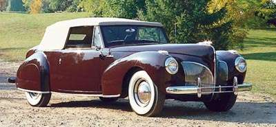 1941 Lincoln Continental cabriolet, part of the 1940-1941 Lincoln Continental line of collectible cars