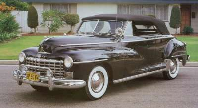 This 1948 Dodge Custom convertible had a base price of $2,289, $540 higher than the same model two years before.