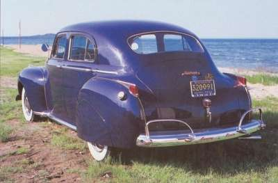 A four-door Town Sedan, with a blanked-out rear roof panel, was new for the 1941 Dodge.