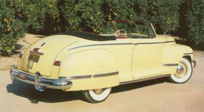 Apart from the long-wheelbase seven-passenger models, the rarest and most expensive 1942 Dodge was the Custom convertible.