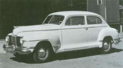 The 1942 Dodge Brougham was essentially carried over for 1945.