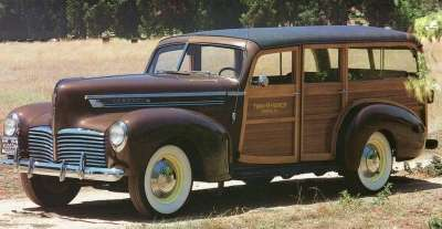 The 1941 Hudson Super Six station wagon had distinctive wood paneling.