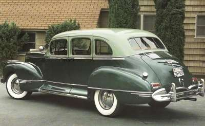Most of the 1942 Hudsons were produced before the government ordered brightwork to be covered.