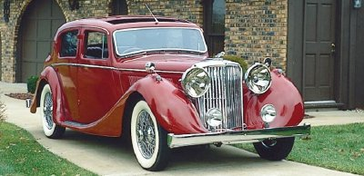 The 1948 Jaguar Mark IV 3.5 Litre sedan, part of the 1945-1948 Jaguar Mark IV line.