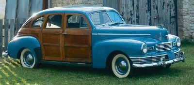 This 1947 Nash Ambassador Suburban sedan was part of the 1946-48 Ambassador Suburban series.