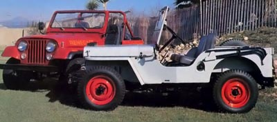 jeep cj7 and jeep cj-2a