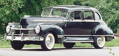 The 1946 Hudson Commodore Eight sedan, part of the 1946-1947 Hudson Commodore Eight line of collectible cars.