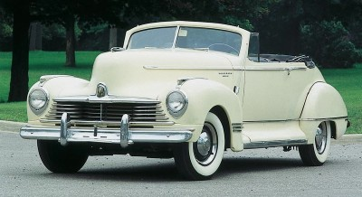 The 1947 Hudson Super Six convertible, part of the 1946-1947 Hudson Super Six line of collectible cars.
