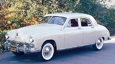 1947 Frazer Manhattan sedan, the top-of-the-line Kaiser-Frazer car
