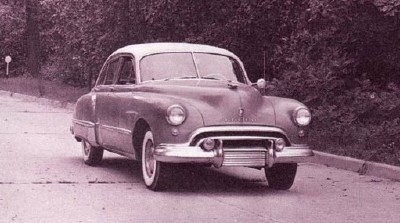 Though it didn't have a new engine, the 1948 Oldsmobile Futuramic 98 had a sleek new style.