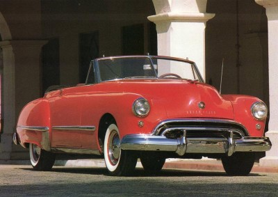 The $2,973 convertible was to many eyes the most glamorous of all the 1949 Oldsmobile Futuramic 98s.